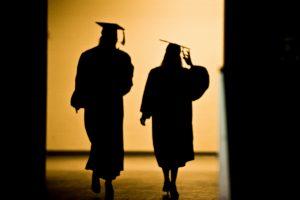 Graduates exit the Kohl Center
